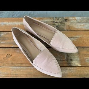 Kelly & Katie light pink suede loafer